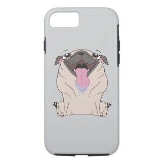 Fat Cartoon Pug Dog iPhone Case
