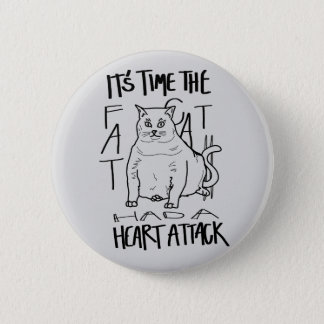 Fat Cat 2 Inch Round Button