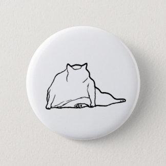 Fat Cat #3 2 Inch Round Button