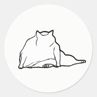 Fat Cat #3 Classic Round Sticker