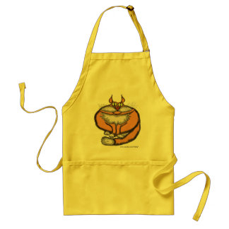 Fat cat funny apron design