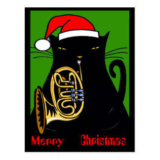 Fat Cat New Orleans Merry Christmas 2017 Postcard