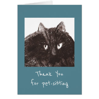 Fat Cat Pet-Sitter Thank You Card