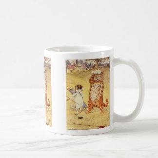 Fat Cat playing golf Coffee Mug