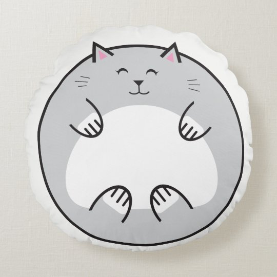 Fat Cat Round Belly Pillow