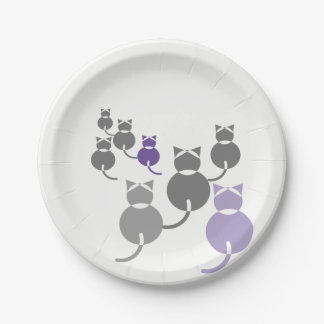 Fat Cats 2 7 Inch Paper Plate