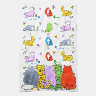 Fat Cats-kitchen towel