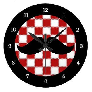 Fat Chef Moustache Clock