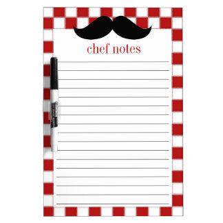 Fat Chef Moustache Dry Erase Board