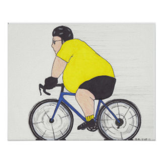 Fat cyclist poster
