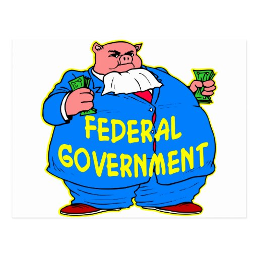 Fat Federal Government Pig Post Cards