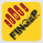 fat finger square stickers