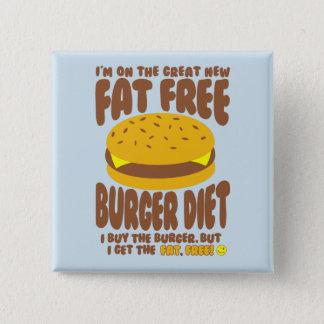 Fat Free Burger Diet 2 Inch Square Button