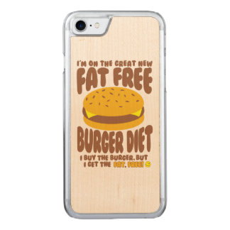 Fat Free Burger Diet Carved iPhone 8/7 Case