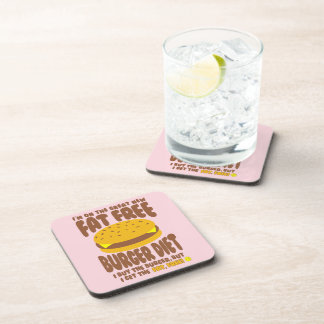 Fat Free Burger Diet Coaster