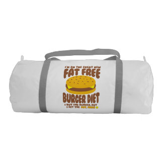 Fat Free Burger Diet Gym Bag
