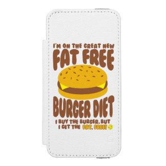 Fat Free Burger Diet Incipio Watson™ iPhone 5 Wallet Case
