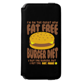 Fat Free Burger Diet Incipio Watson™ iPhone 6 Wallet Case