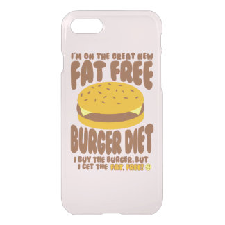 Fat Free Burger Diet iPhone 8/7 Case