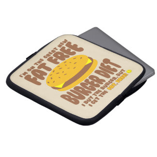 Fat Free Burger Diet Laptop Sleeve