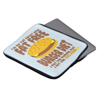 Fat Free Burger Diet Laptop Sleeve