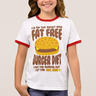 Fat Free Burger Diet Ringer T-Shirt