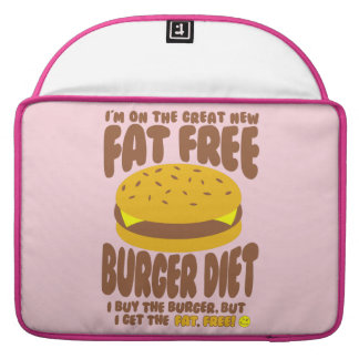 Fat Free Burger Diet Sleeve For MacBook Pro