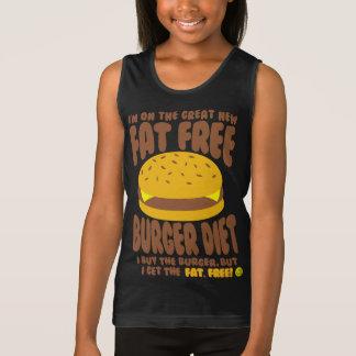Fat Free Burger Diet Tank Top