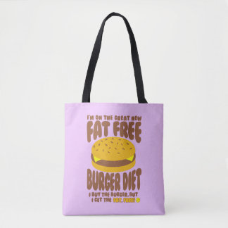 Fat Free Burger Diet Tote Bag