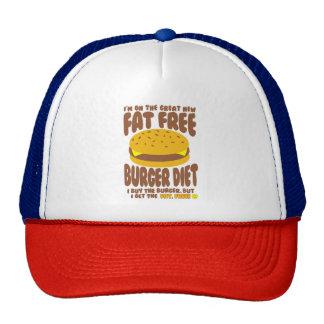 Fat Free Burger Diet Trucker Hat