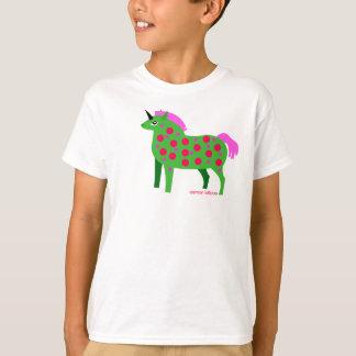 Fat Green and Pink Unicorn Kids T-Shirt