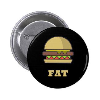 Fat Hamburger 2 Inch Round Button