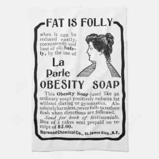 Fat Is Folly - Vintage Kitchen Towel