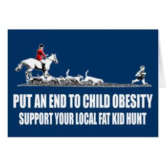 Fat kid card
