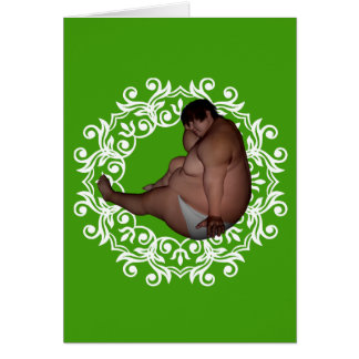 Fat Man | Big Fat Christmas! Weird Greeting Card