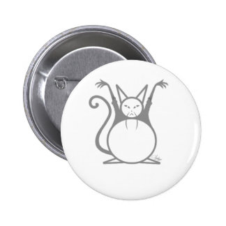 Fat Master Cat 2 Inch Round Button