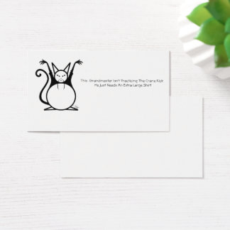 Fat Master Cat Business Card