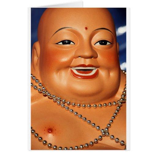 Fat orange Buddha Card