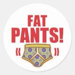 Fat pants Flowery Sticker