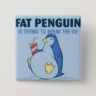 Fat Penguin Ice Breaker Flair 2 Inch Square Button