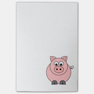 Fat Pink Pig Post-it Notes