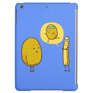 Fat potato against a weak potato iPad air case