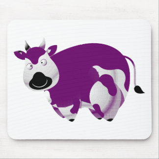 Fat Purple Cow Black Nose Mouse Pad