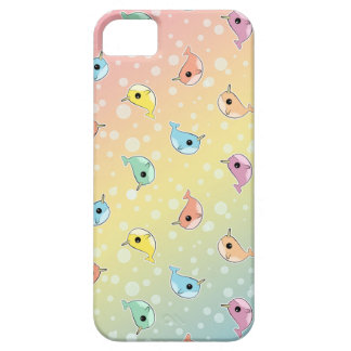 Fat Rainbow Narwhal Pattern iPhone 5 Cases