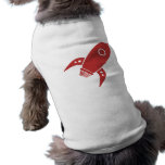 Fat Retro Rocket Ship Red Dog Clothes