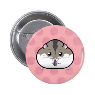 Fat Russian Dwarf Hamster 2 Inch Round Button