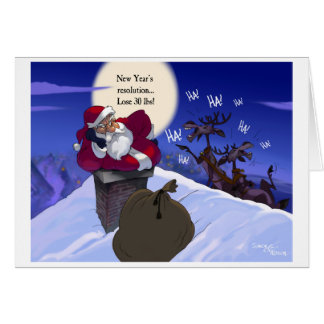 fat santa card