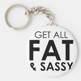 Fat & Sassy Keychain