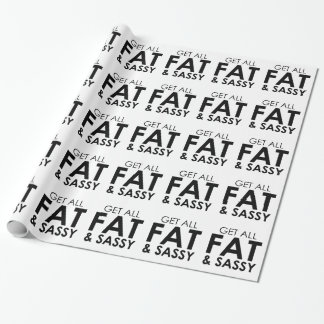 Fat & Sassy Wrapping Paper