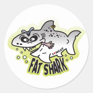 Fat Shark Classic Round Sticker